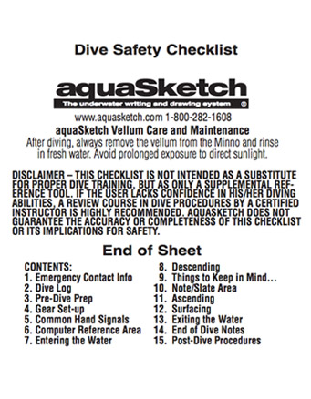 Dive Safety Check List (AP-DSM) Image